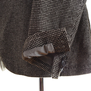 Tagliatore Unstructured Wool/Cotton Jacket Size 48 - Houndstooth