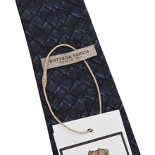 Load image into Gallery viewer, Bottega Veneta Printed Silk Tie - Navy/Black