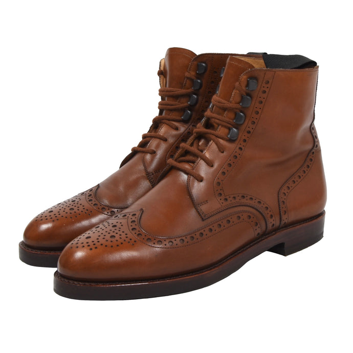 Ludwig Reiter Budapester Boots Size 9 - Cognac Brown