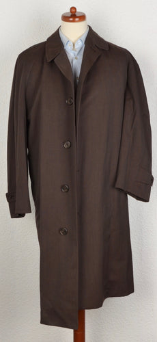 Aquascutum London Balmacaan Wool Trench Size UK 44 - Brown
