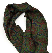 Load image into Gallery viewer, Wool Challis Dress Scarf - Blue, Green & Red