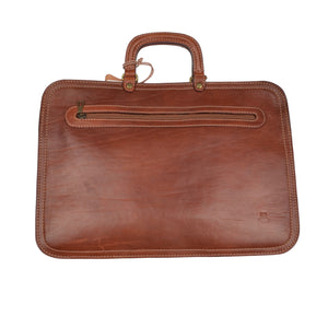 Pielle Leather Briefcase/Document Holder - Tan