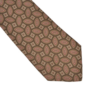Prochownick Ancient Madder Silk Tie - Brown & Tan