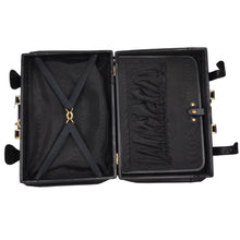 Load image into Gallery viewer, Crown's Club Leather Carry-On Small Suitcase - Black