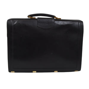 Classic Leather Briefcase - Black