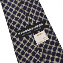 Load image into Gallery viewer, Prochownick Basketweave Silk Tie - Navy & Beige