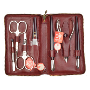 Pfeilring Solingen 7 Piece Manicure/Pedicure Set - Red