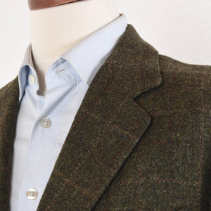 Francesco Smalto Paris Tweed Jacket Size 50 - Green