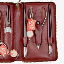 Load image into Gallery viewer, Pfeilring Solingen 7 Piece Manicure/Pedicure Set - Red