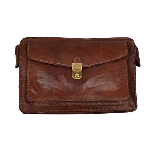 The Bridge Leather Travel Pouch - Brown