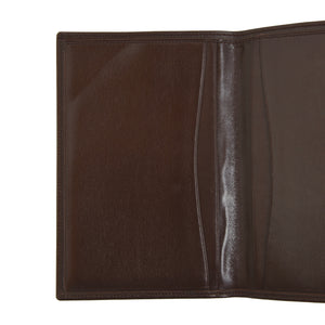 Classic Leather Travel Wallet - Brown