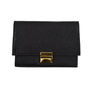Mano Handmade Goatskin Leather Wallet - Black