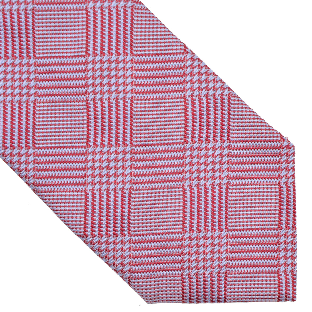 Don Gil Prince of Wales Silk Tie - Blue & Red