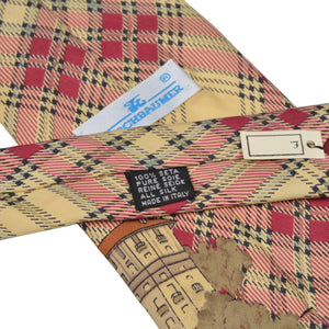 Kirchbaumer Golf Themed Silk Tie - Plaid