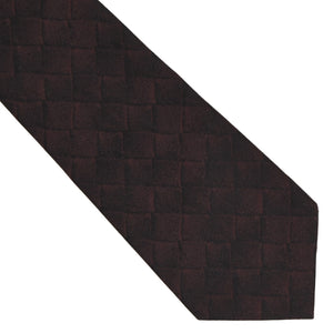 Bottega Veneta Printed Silk Tie - Burgundy/Black