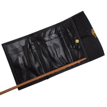Load image into Gallery viewer, Mano Handmade Goatskin Leather Wallet - Black