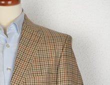 Load image into Gallery viewer, Recent DAKS London Silk Linen Jacket Size 54/44 - Plaid