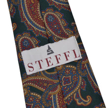 Load image into Gallery viewer, Steffl Paisley Silk Tie - Green