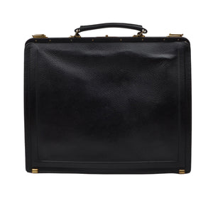 F. Schulz Soft-Sided Leather Briefcase - Black