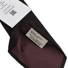 Load image into Gallery viewer, Bottega Veneta Printed Silk Tie - Burgundy/Black