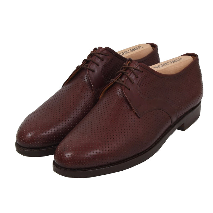 Ludwig Reiter Perforated Leather Shoes Size 9 - Burgundy