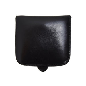 Classic Elegant Leather Change Purse - Black