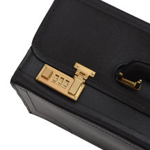 Load image into Gallery viewer, Classic Leather Attache Case - Black