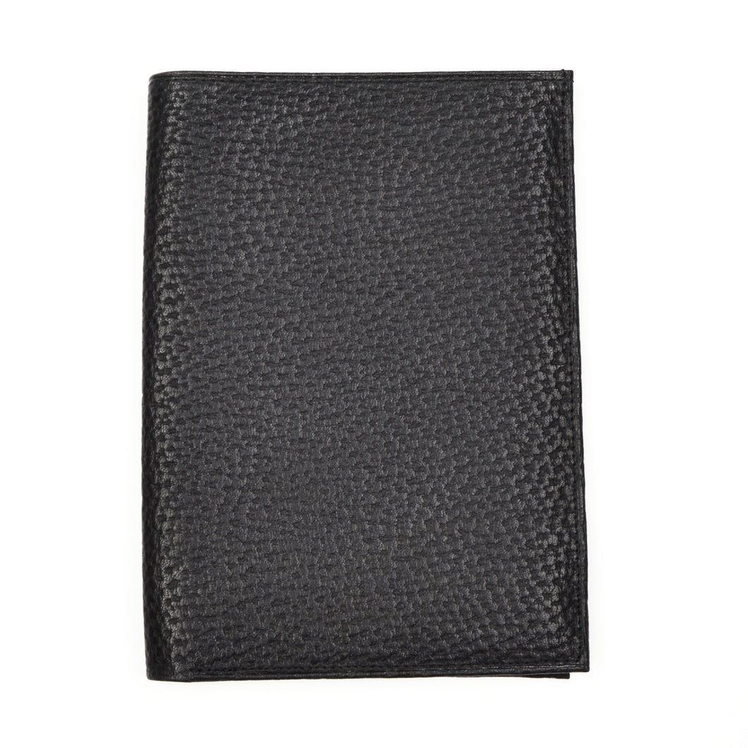 Becker Handmade Leather Travel/Breast Wallet - Black