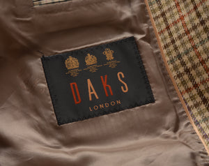 Recent DAKS London Silk Linen Jacket Size 54/44 - Plaid