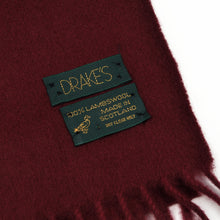 Load image into Gallery viewer, Wool XL Scarf by Drake's - Burgundy