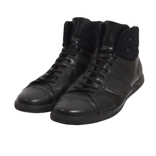 Z Zegna High Top Sneakers EU 10.5/US 11.5 - Black