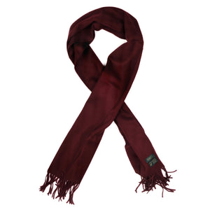 Wool XL Scarf by Drake's - Burgundy
