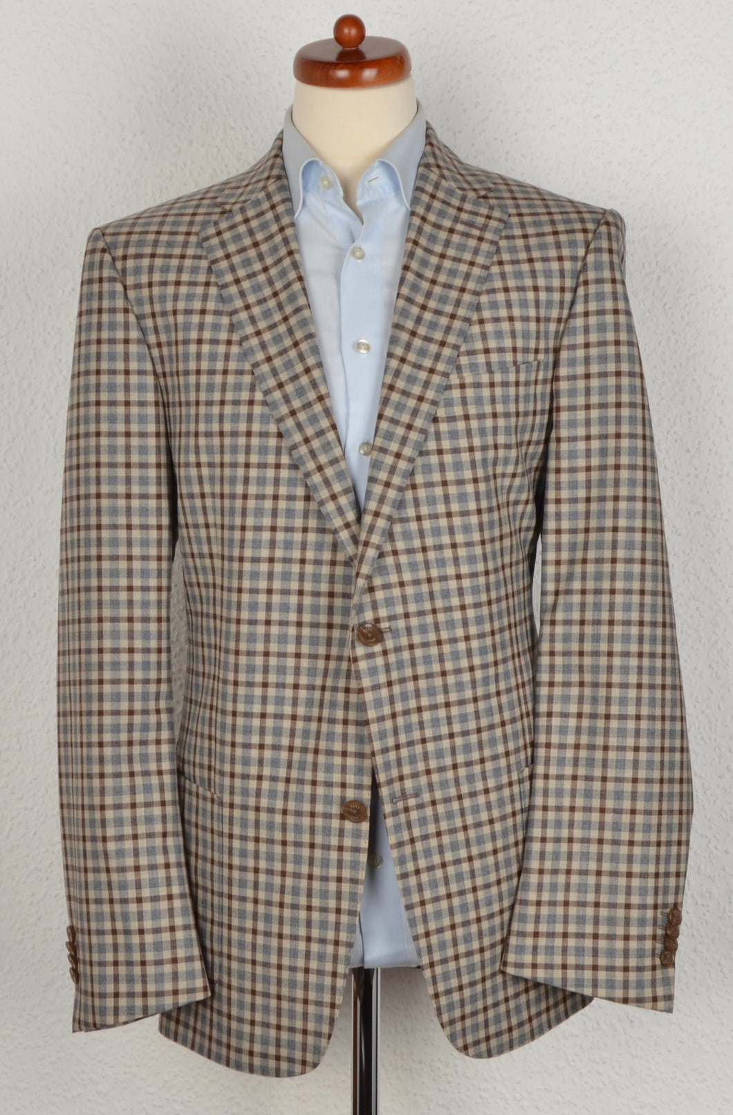 Recent DAKS London Wool Jacket Size 54 - Plaid