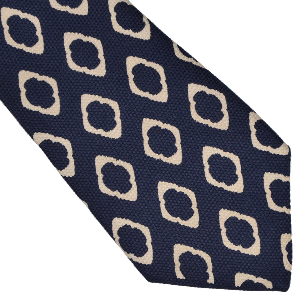 Vintage Phoenix for Sir Anthony Wien Silk Tie - Blue & White