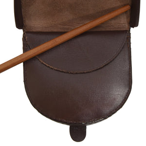 Classic Leather Change Purse - Brown