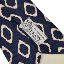 Load image into Gallery viewer, Vintage Phoenix for Sir Anthony Wien Silk Tie - Blue & White