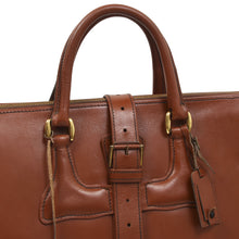 Load image into Gallery viewer, F. Schulz Wien Leather Weekender Bag - Tan