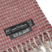 Load image into Gallery viewer, Plaid Cashmere Scarf - Burgundy & Grey