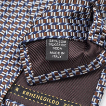 Load image into Gallery viewer, Ermenegildo Zegna Silk Tie - Brown & Blue