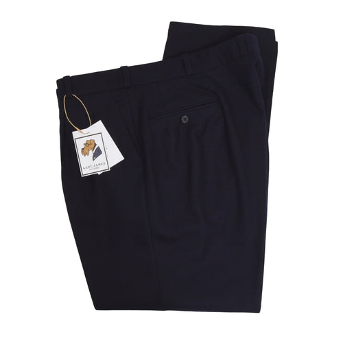 Bespoke Rossmann Holland & Sherry Super 100s Wool Pants - Navy Blue