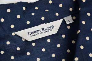 Derek Rose Cotton Pyjamas Size L - Polka Dot