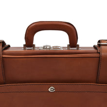 Load image into Gallery viewer, Creation Esquire Leather Carry-On Small Suitcase - Cognac Brown