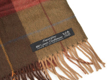 Load image into Gallery viewer, Plaid Cashmere Scarf - Burgundy & Green