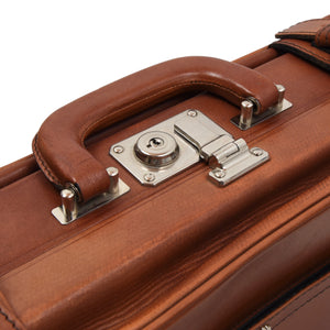 Creation Esquire Leather Carry-On Small Suitcase - Cognac Brown