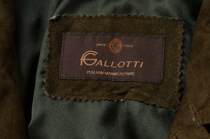 Gallotti Suede Jacket Size 56 - Olive Brown
