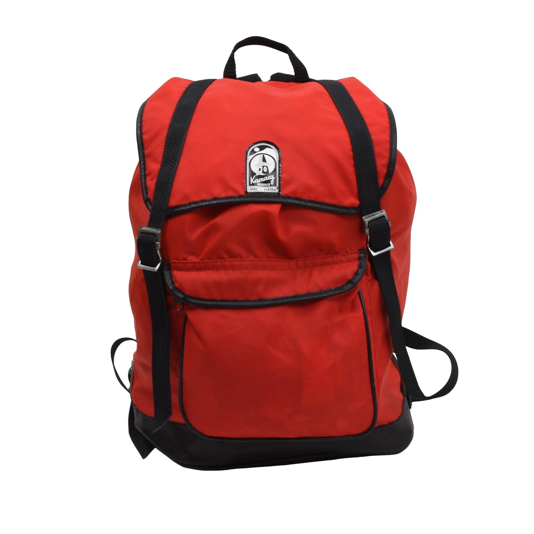 Vintage Kamarg Nylon Rucksack - Red & Black