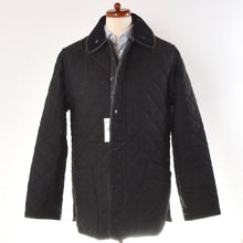 Load image into Gallery viewer, Barbour Wool Covert Quilted Jacket Size L - Charcoal
