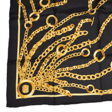 Load image into Gallery viewer, Hand Rolled Silk Scarf Chains - Black & Gold