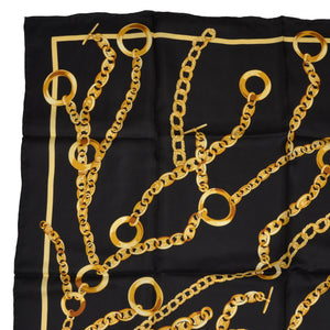 Hand Rolled Silk Scarf Chains - Black & Gold