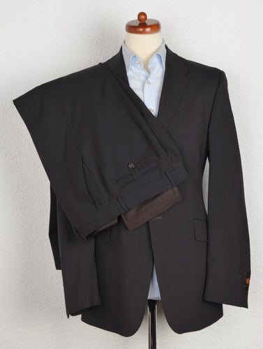 Paul Smith Striped Suit Size 40/50 -Black
